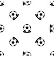 soccer ball pattern seamless black vector image vector image