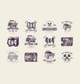 stock set off-road club emblems vector image vector image