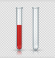 test tubes with blood realistic laboratory vector image