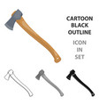 the ax is marchingtent single icon in cartoon vector image vector image