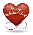 The toy Happy Valentines Day heart vector image vector image