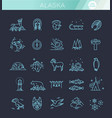 thin line arctic icons set north pole outline vector image vector image