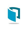 unique book symbol logo design vector image