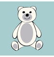 White Bear funny cartoon animal toy vector image vector image