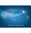 world travel map with airplanes vector image vector image