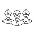 builders team line icon sign vector image