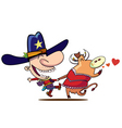 cow boy dance vector image