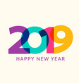 2019 happy new year geometric calendar vector image