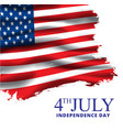 4th july banner usa flag waving vector image vector image