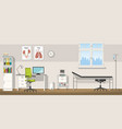 a doctor office vector image vector image