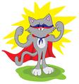 amusing cat superhero vector image vector image