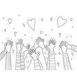 applause hands crowd people handed applause fun vector image