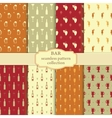 Bar seamless pattern collection vector image