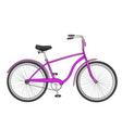 bike isolated object on white background the vector image