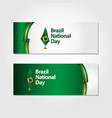 brazil national day flag template design vector image