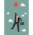 Businessman flying with red balloon vector image vector image