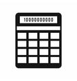 Calculator icon simple style vector image vector image
