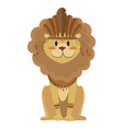 cartoon lion indian a cute vector image