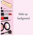 cosmetic set background vector image vector image