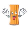 crazy air mattress mascot cartoon vector image