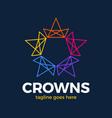 crown star logo design concept connected loop vector image vector image