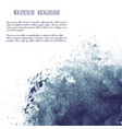 dark blue black grunge watercolor ink texture vector image vector image