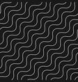 diagonal thin wavy lines seamless pattern waves vector image vector image
