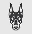 Doberman Head Logo Mascot Emblem vector image