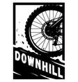 downhill mountain bike banner t-shirt print vector image
