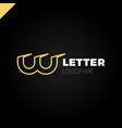 dynamic initial letter lw linked round lowercase vector image