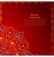 Ethnic red ornament vector image