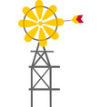 farm windmill vector image