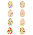 florar easter eggs vector image