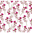 flowers background design vector image vector image