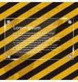 Glass frame on grunge striped cunstruction vector image vector image