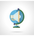 Globe and megaphone flat color icon vector image vector image