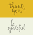 Grateful Lettering vector image vector image