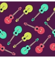 guitar seamless pattern Flat style design vector image vector image