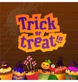 Happy Halloween Trick or Treat Greeting Card vector image vector image