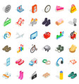 internet marketing icons set isometric style vector image vector image