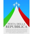 Italian National Day poster vector image