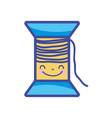 kawaii cute happy thread object vector image vector image