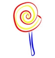 lollipop drawing on white background vector image vector image