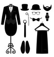 mens accessories flat design vector image