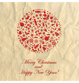 merry christmas crushed paper vector image
