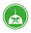 modern islamic mosque and quran logo in isolated vector image