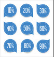 modern offer sale blue tag isolated vector image