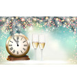 new year holiday background with a gift boxes and vector image vector image
