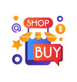 online shop internet shopping e-commerce concept vector image vector image