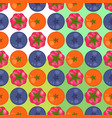 orange blueberry and raspberry pattern vector image